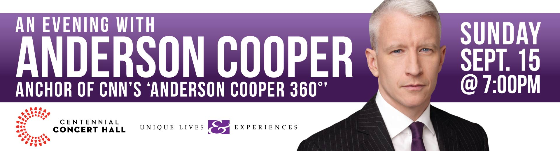 An Evening with Anderson Cooper - Sept 15, 2019 in Winnipeg