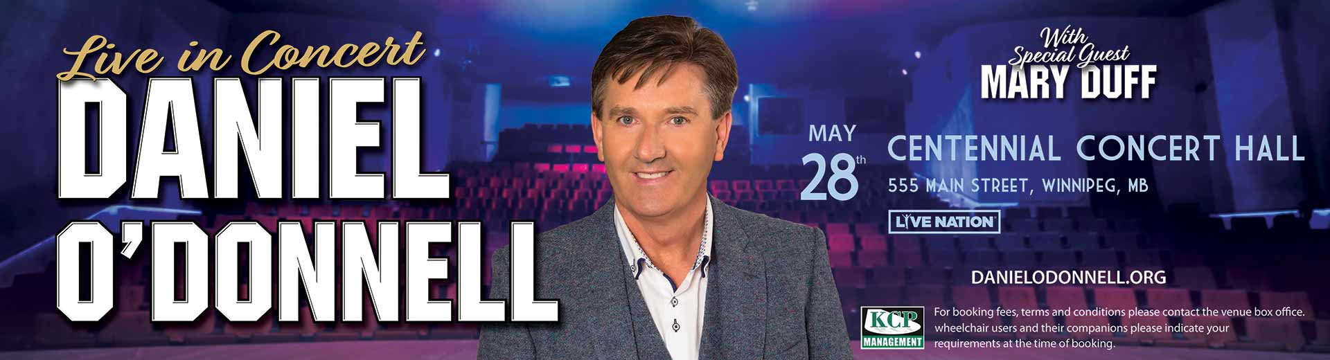 Daniel O'Donnell May 28, 2019 in Winnipeg at Centennial Concert Hall